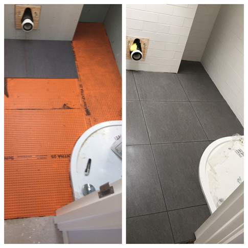 Shower room tiling in North London