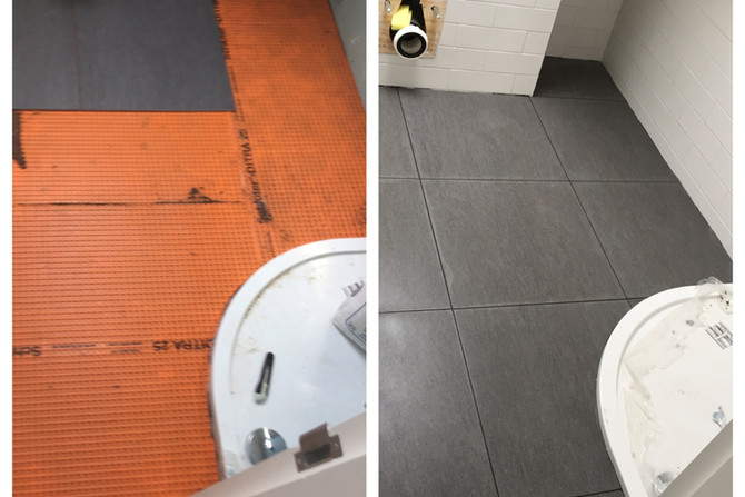 Shower room tiling in Essex