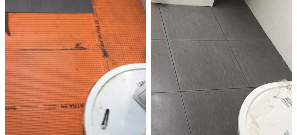 Shower room tiling South London