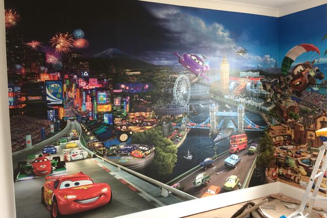 Photo wallpaper hanging in Essex