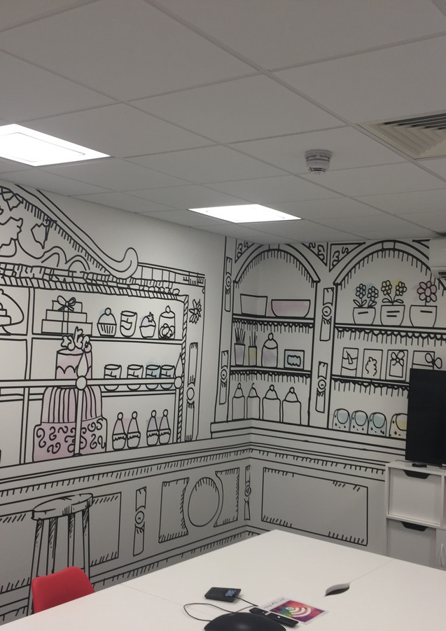 Wallpaper in the office