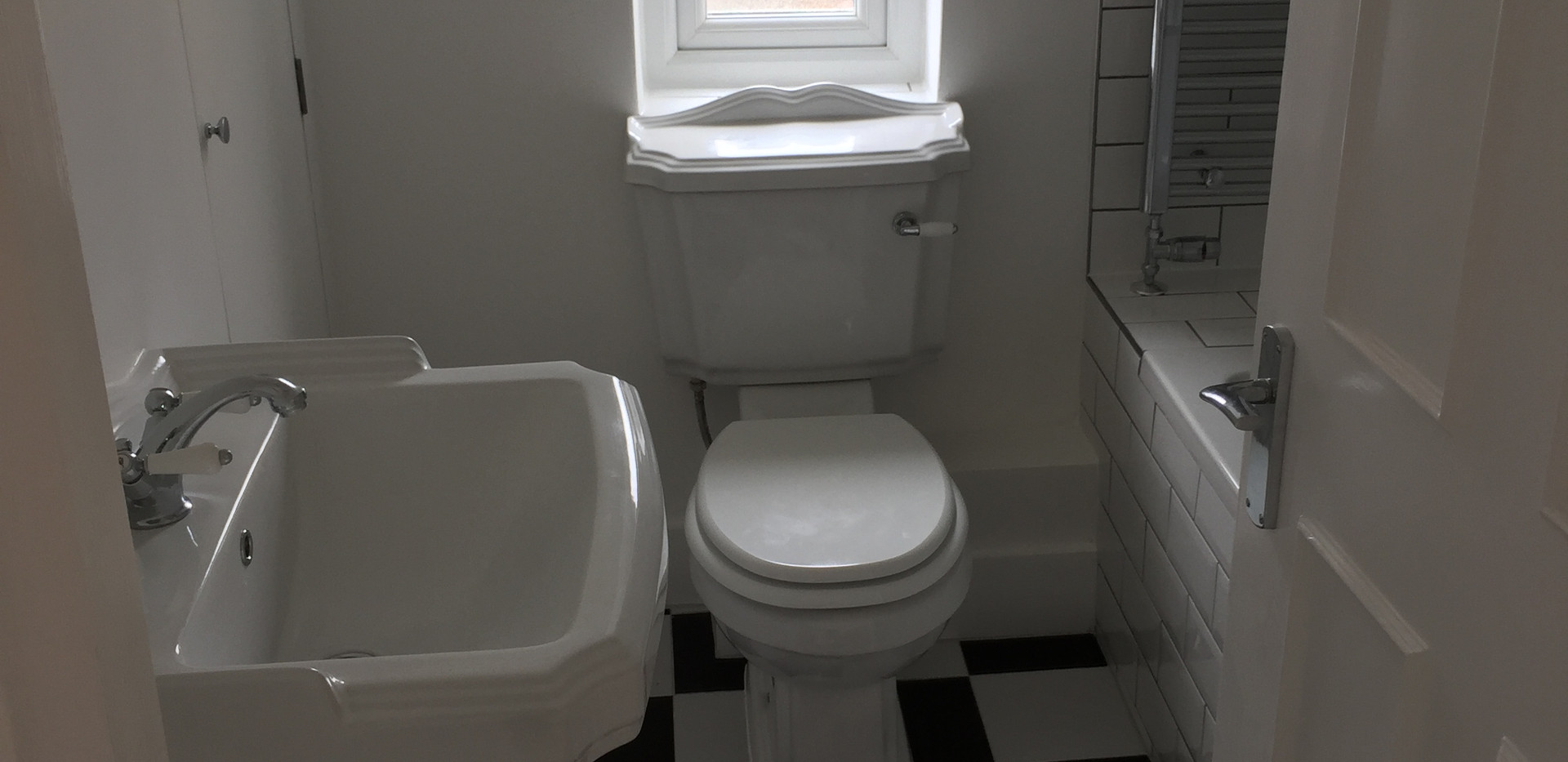 Bathroom and toilet tiled