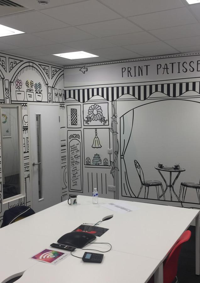 Professional wallpaper hangers in London Office