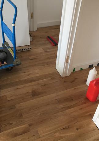 Wood floor installation in Barking. East london