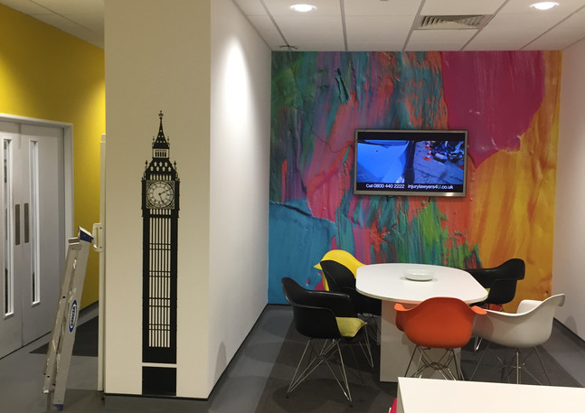 Redecorated kitchen in the office London