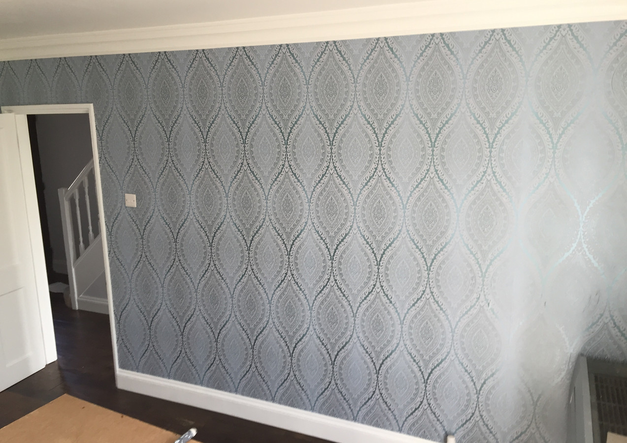 Wallpaper hanging in East London - Dagenham