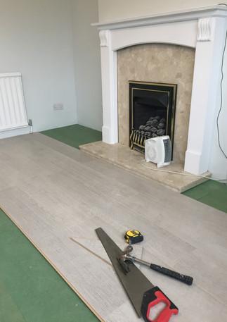 Laminate floor fitting in East London