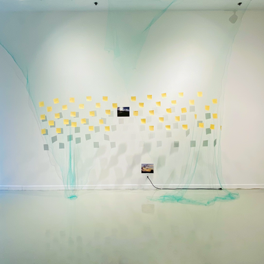 Installation view at From Body to Body to Bodies