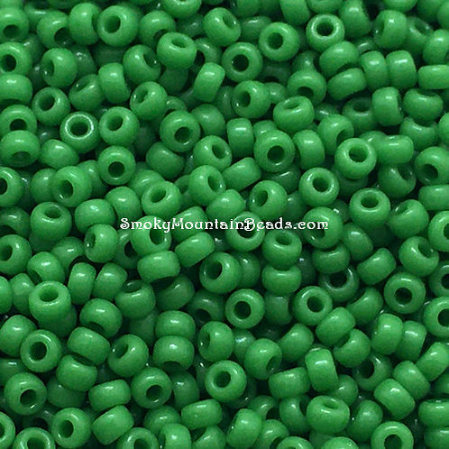 11-411 Opaque Green 11/0 Miyuki Seed Beads | SmokyMountainBeads.com