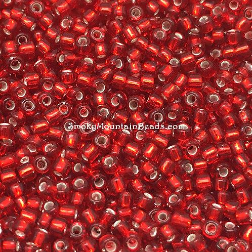 11-11 Silver-Lined Ruby 11/0 Miyuki Seed Beads | SmokyMountainBeads.com