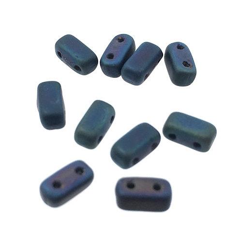Matte Iris Blue • Bricks • Czech • 3x6mm • 365-36-M21135   Smoky Mountain Beads