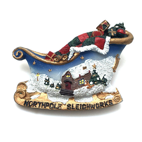Nite Sky North Pole Sleigh Pin •  53x37mm • 39100RN-5337NITE | Smoky Mountain Beads