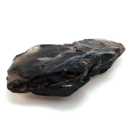 Apache Tear Obsidian Rough • 345.4 grams ~ 139x74x35mm • 90100ATo-345-4 | SmokyMountainBeads.com