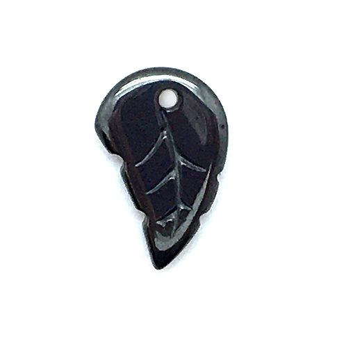 Hematite Leaf • 19x12x3mm • 183100HMT-LEAF19   smokymountainbeads.com