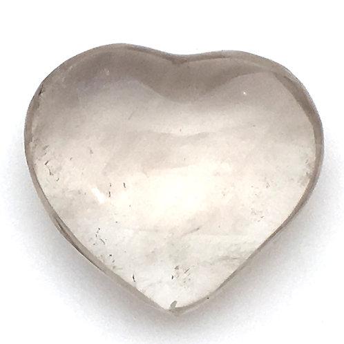 Smoky Quartz Heart • Madagascar • 19.9 grams ~ 34x31x15mm
