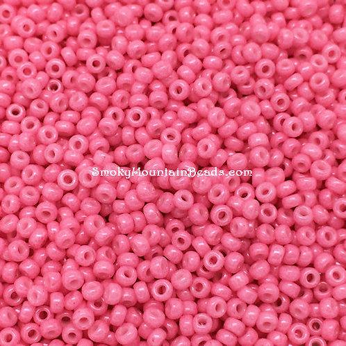 11-1385 Opaque Carnation Pink Dyed 11/0 Miyuki Seed Beads | SmokyMountainBeads.com