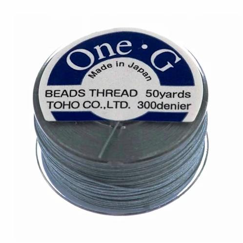 Gray • One-G® Nylon Thread | SmokyMountainBeads.com