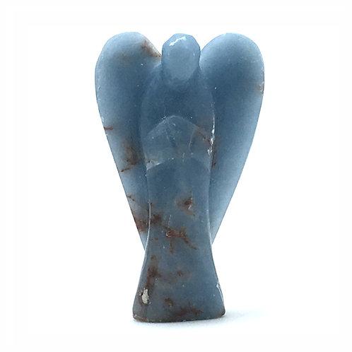 Anhydrite 'Angelite' Angel • 21.4 grams ~ 53x31x11mm • 97100ANG-21-4   SmokyMountainBeads.com