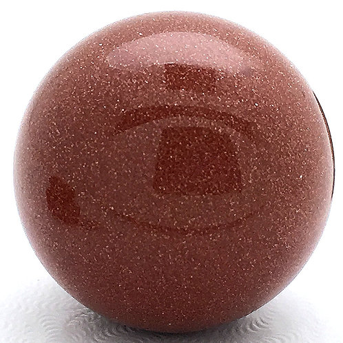 Goldstone Sphere • India • 21.3 grams ~ 24.9mm