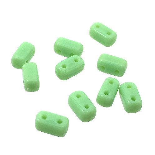 Honeydew • Bricks • Czech • 3x6mm • 365-36-53200  | Smoky Mountain Beads
