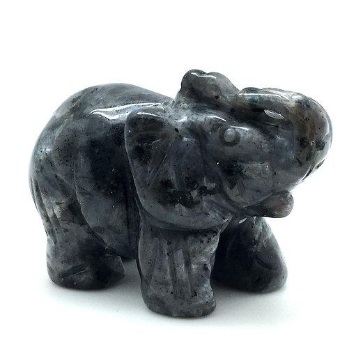 Larvikite Elephant • Norway • 62.0 grams ~ 51x25x37mm