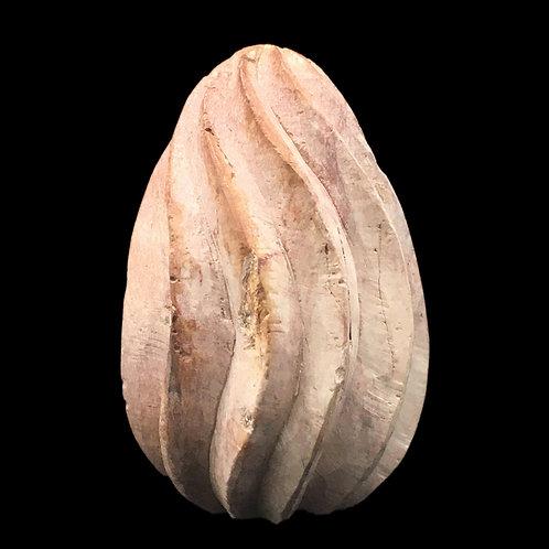 Kisii Stone Fluted Egg • Kenya • 229.9 grams ~ 81x52mm 69100KS-229-9