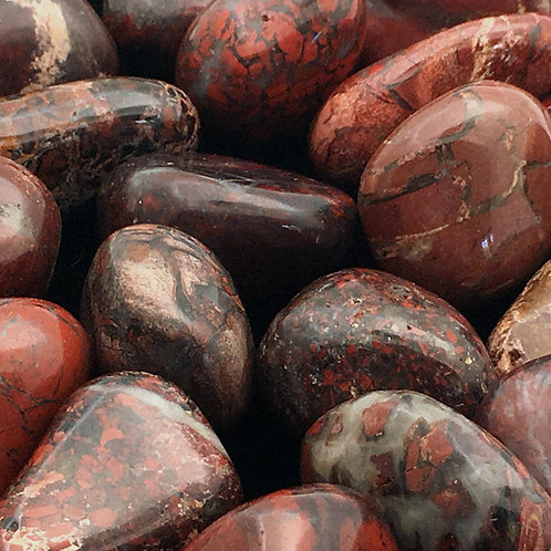 Brecciated Red Jasper Tumbles • Africa • Large