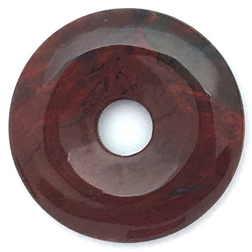 Brecciated Jasper • Brazil • 16.5 grams ~ 40.3x6.7mm ~ 9.4mm I.D.