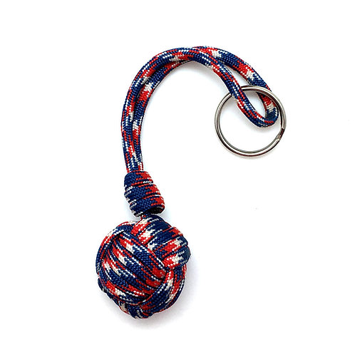 Monkey Fist Key Chain • KC-MKF-SN2-15 | SmokyMountainBeads.com