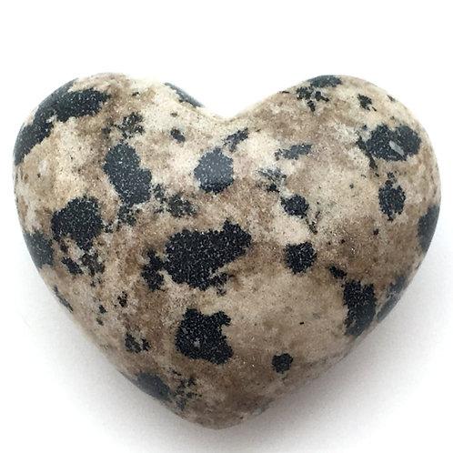 Dalmatian Stone Heart • Mexico • 50.4 grams ~ 45x38mm
