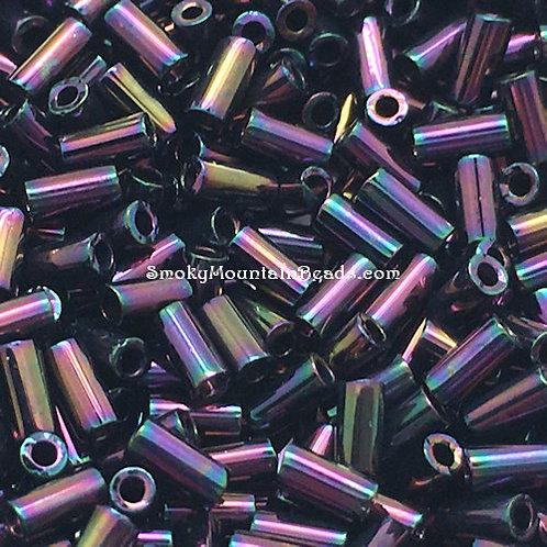 Metallic Dark Plum Iris Bugle • 3mm • 0310-BB-454   SmokyMountainBeads.com