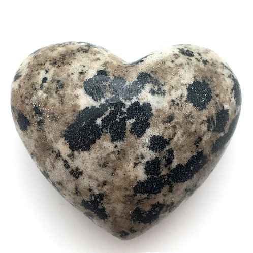 Dalmatian Stone Heart • Mexico • 51.0 grams ~ 45x38mm