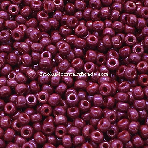 11-426B Dark Red Opaque Luster 11/0 Seed Beads | SmokyMountainBeads.com