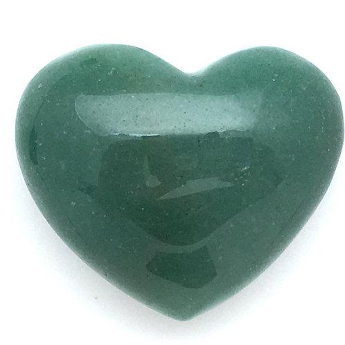 Green Aventurine Heart • Brazil • 53.6 grams ~ 45x38x24mm