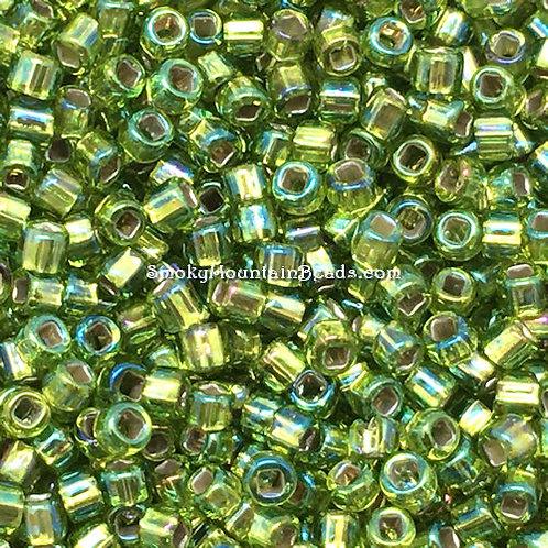 11-643A Silver-Lined Chartreuse AB 11/0 Seed Beads | SmokyMountainBeads.com