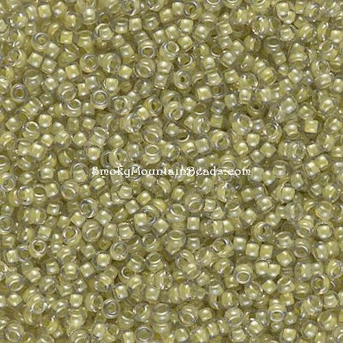 11-378 Light Olive-Lined Crystal Luster 11/0 Miyuki Seed Beads   SmokyMountainBeads.com