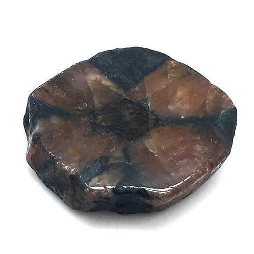 Chiastolite (Cross Stone) • China • 26.9 grams ~ 37x34x9mm
