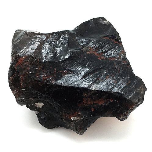 Apache Tear Obsidian Rough • Mexico • 210.2 grams ~ 78x75x37mm