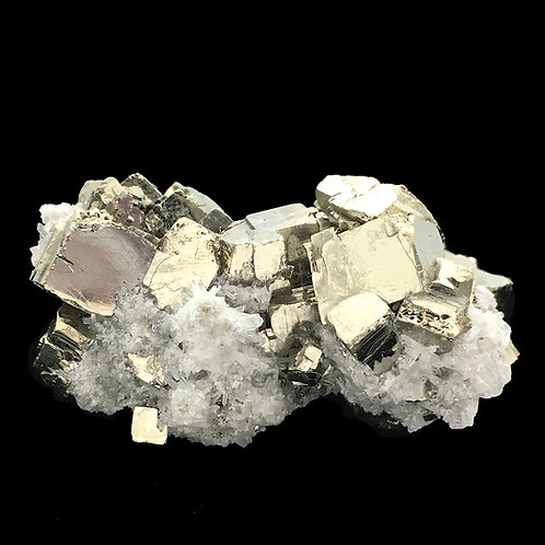 Cubic Pyrite Quartz Points Druzy • Peru • 56.5 grams ~ 50x34x25mm