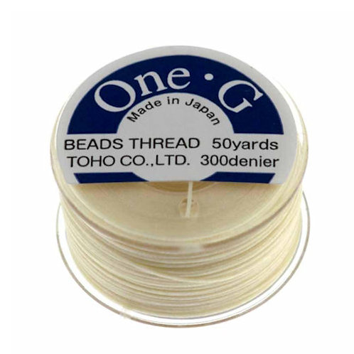 Cream • One-G® Nylon Thread | SmokyMountainBeads.com
