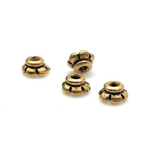 Scalloped Bead Caps • 2x3.5mm • 5596-26 | SmokyMountainBeads.com