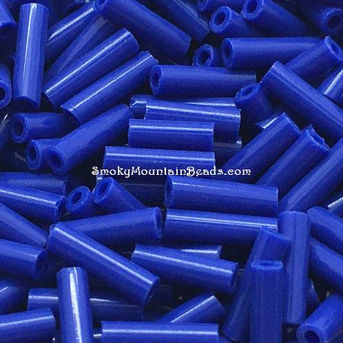 Opaque Cobalt Bugle • 6mm • 0615-BB-414 | SmokyMountainBeads.com