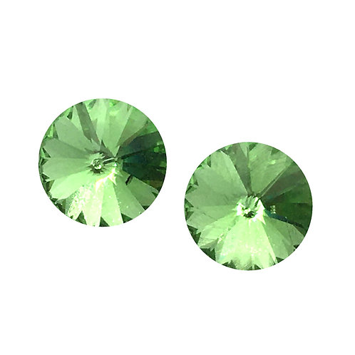 Swarovski Rivoli Earrings • Peridot • ER1122-214ST8 | SmokyMountainBeads.com