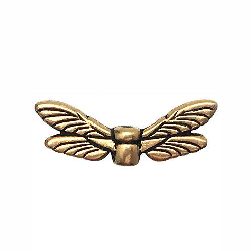 Dragonfly Wings Bead • 7x20mm • 94-5588-26 | SmokyMountainBeads.com