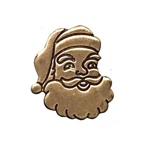 Santa Lapel Pin • Brass • 39100LPN-SANTA-20 | SmokyMountainBeads.com