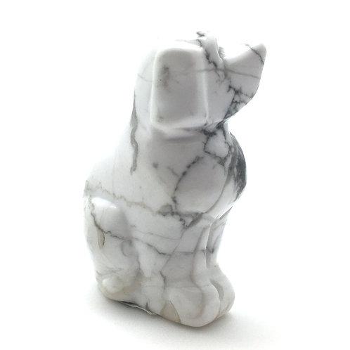 Howlite Dog • United States • 61.9 grams ~ 51x34x23mm 87100DOG-HOW-61-9
