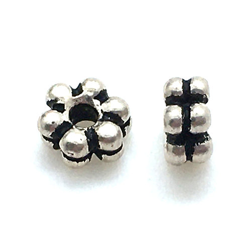 Double Daisy Spacer  • 3x6mm (2) • 94-5563-12 | Smoky Mountain Beads