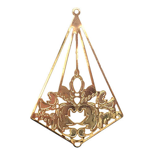 Kite Filigree Chandelier • 43x29mm • Gold-Plated • 41-244329-25 | SmokyMountainBeads.com