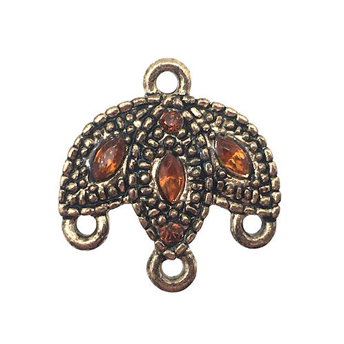 Topaz Marquise Chandelier • 19x18mm • Crystal • Antiqued Gold-Plated • 41-451918-25   SmokyMountainBeads.com