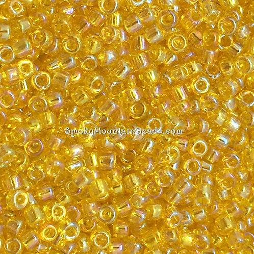 11-252 Transparent Yellow AB 11/0 Miyuki | SmokyMountainBeads.com